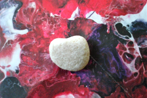 Heart-shaped stone, found at Peace Garden