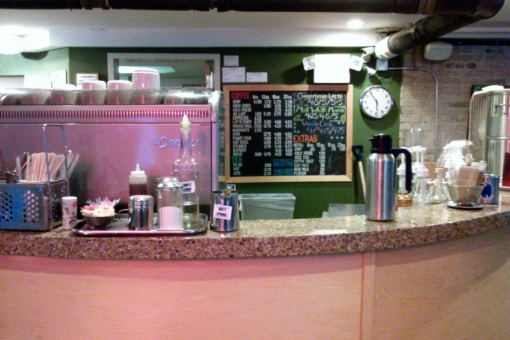 The coffee bar at The Boiler Room.
