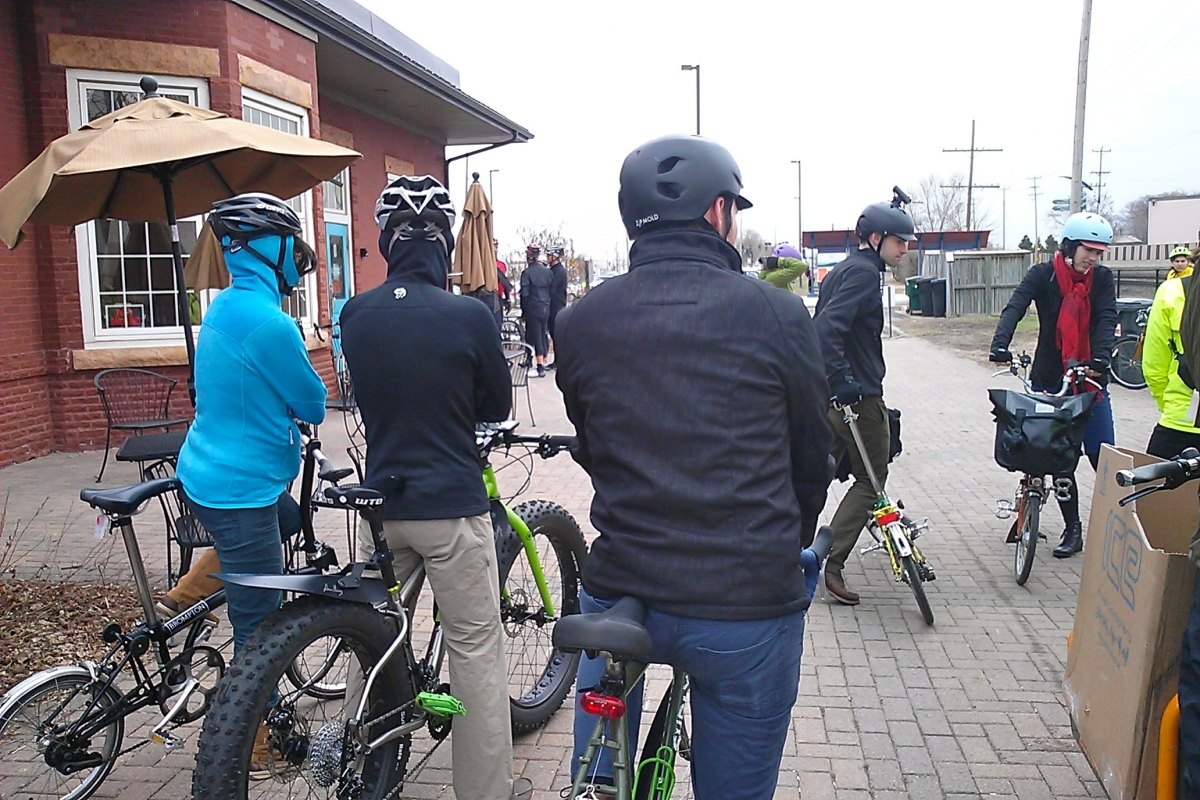 …we layered up for cold and wet conditions!