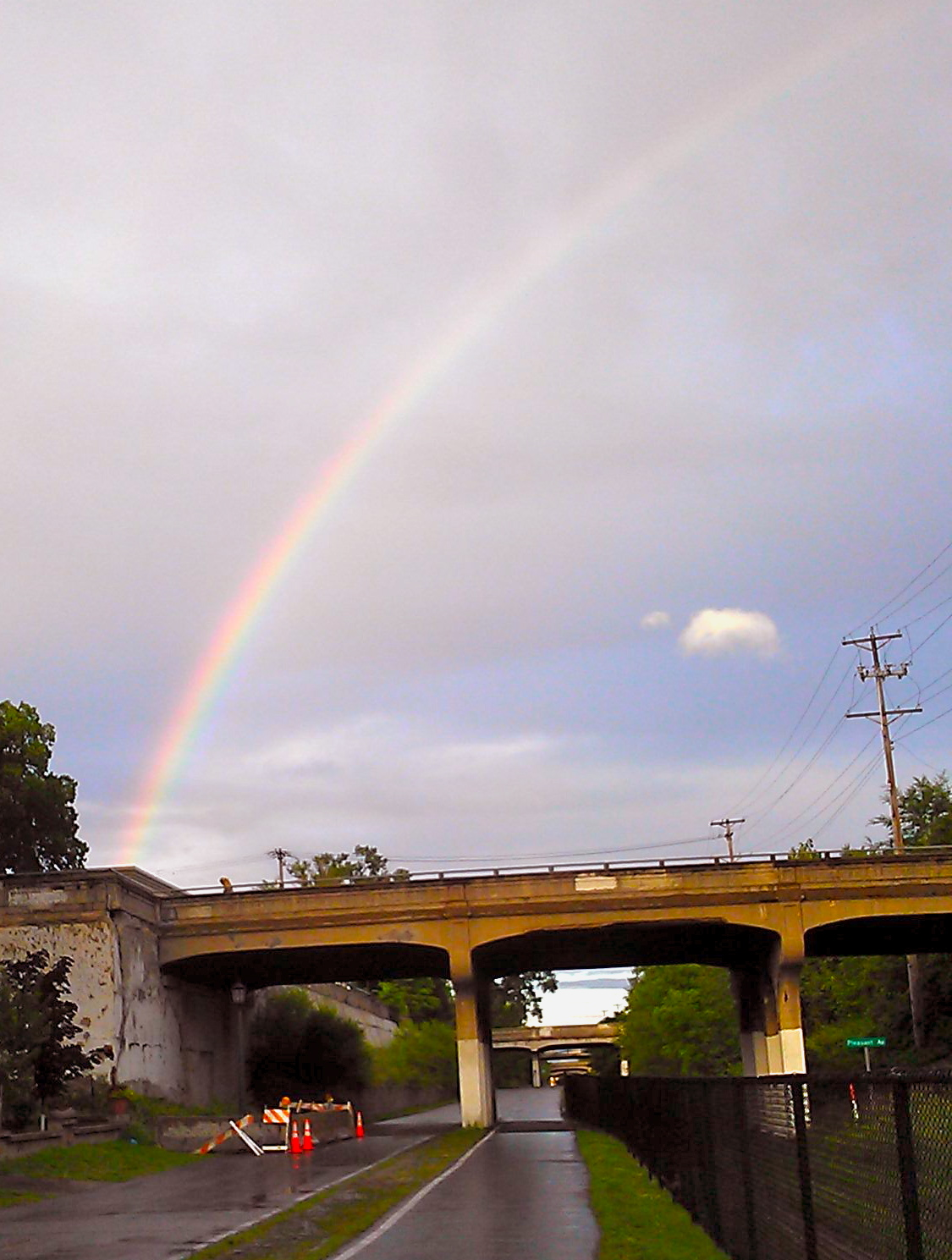 Rainbow over the Midtown Greenway